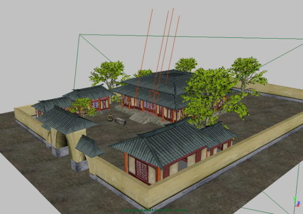 Casa tradicional china del patio