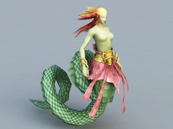 Monstruo Serpiente Femenina