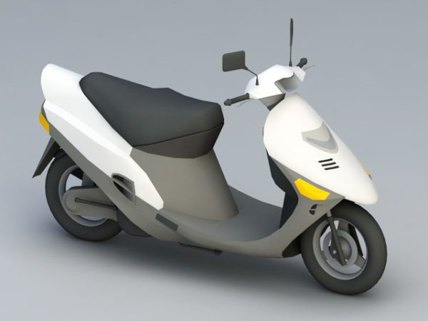White Moped