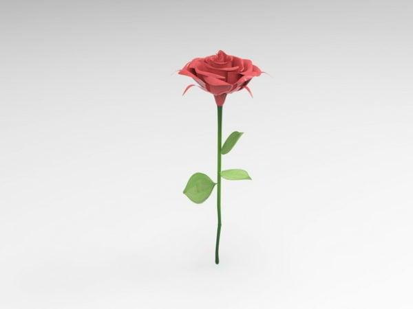 وردة حمراء زهرة