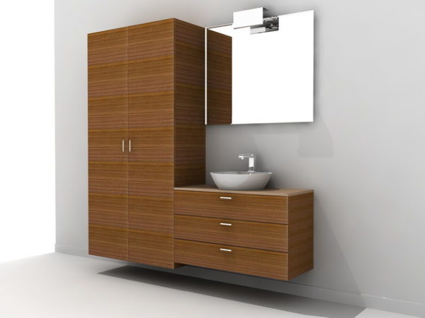Tall Bathroom Vanity Cabinet Free 3d Model Dwg Max Open3dmodel 44889