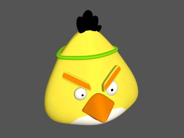 Vihainen lintu keltainen