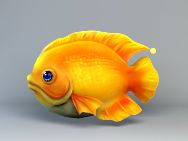 Dibujos animados de pescado Low Poly