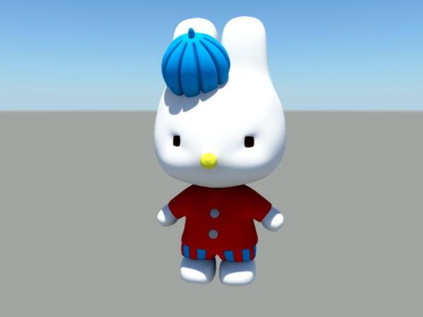 Personaje de dibujos animados gato