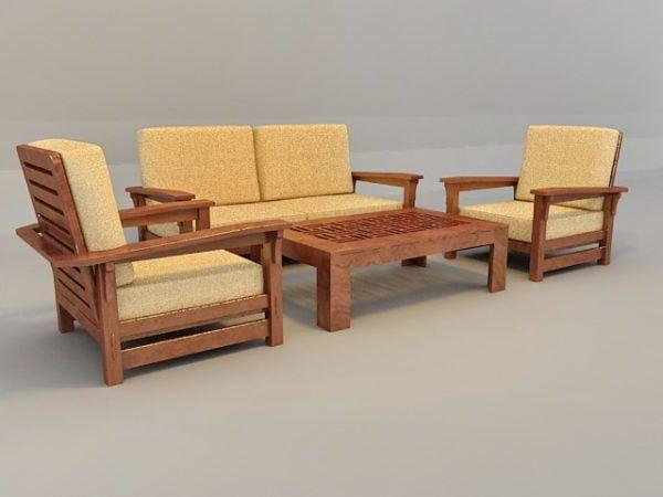 Sofa Set With Wood Trim Free S Max