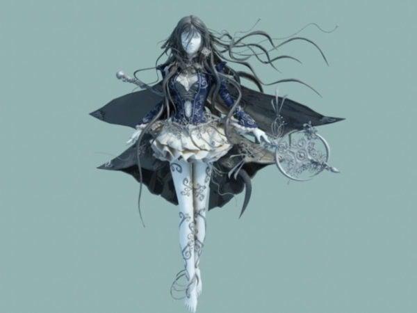 Anime Female Warrior Goddess