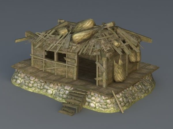Casa de madera abandonada