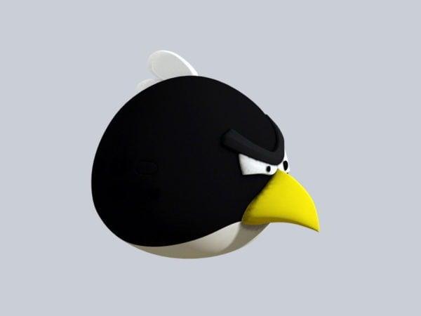 Vihainen lintu musta