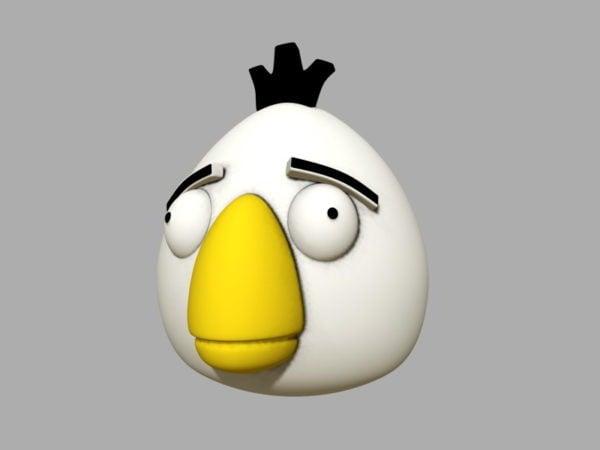 Pájaro enojado blanco