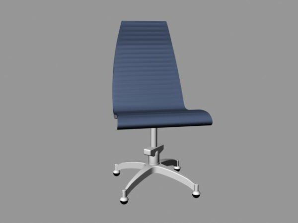 Silla de oficina azul