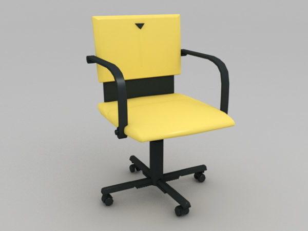 Silla de oficina amarilla