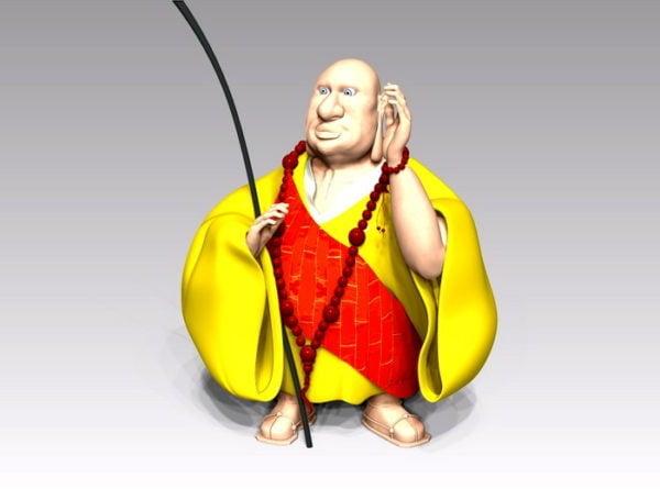 Monje Budista De Dibujos Animados