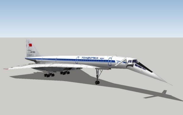 Tupolev Tu-144 Jet Airliner