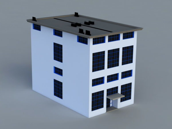 Small Office Building Exterior Free 3d Model Max Open3dmodel 47279