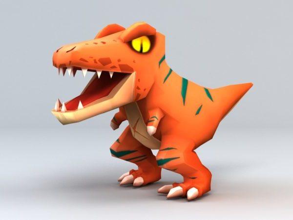 Söpö Velociraptor-dinosaurus