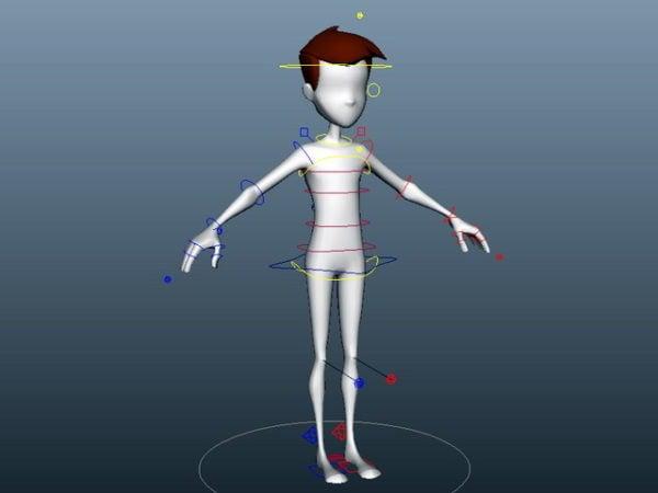 Plataforma de niño de dibujos animados