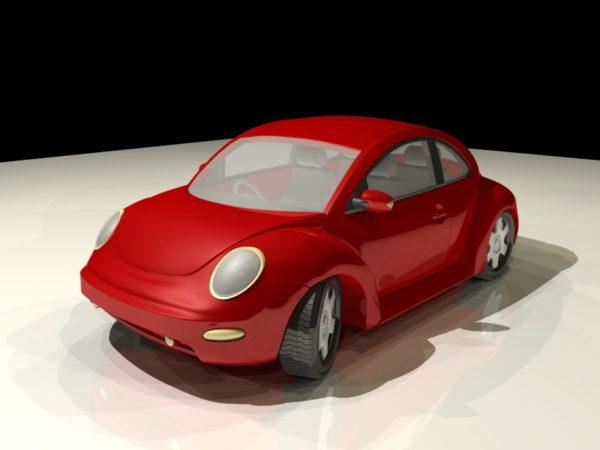 Escarabajo Volkswagen De Dibujos Animados