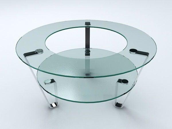Ainutlaatuinen lasinen sohvapöytä