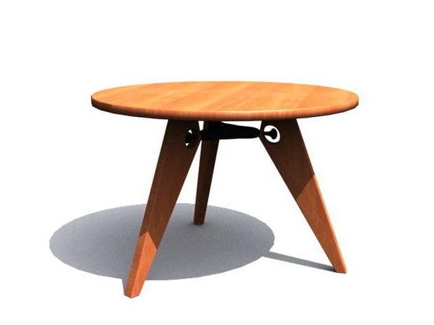 Moderni pyöreä teepöytä