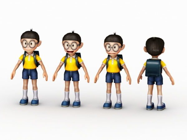 Chibi Anime School Boy