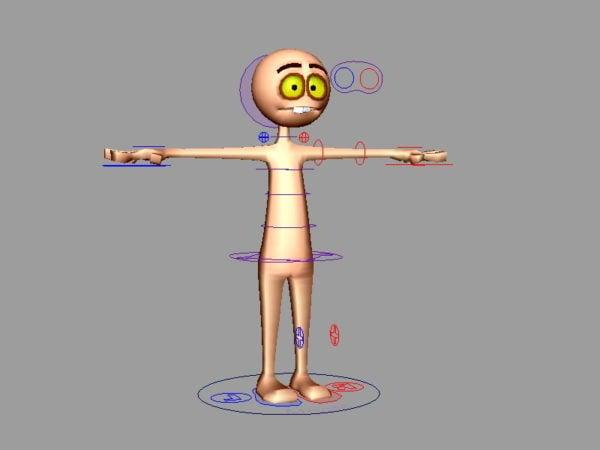 Plataforma base humana de dibujos animados