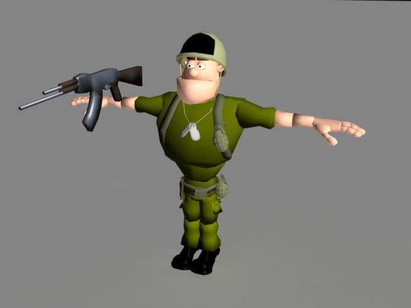 تلاعب الجندي الكرتون