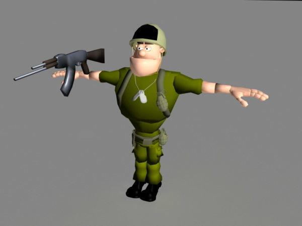Sarjakuva Soldier Rig