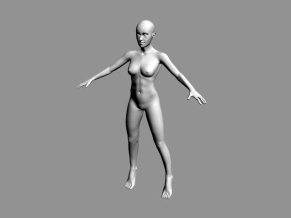 Naisen vartalo