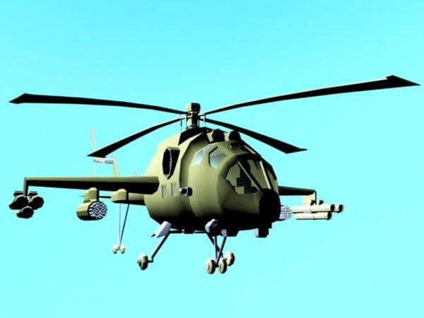 Helicóptero Militar De Dibujos Animados