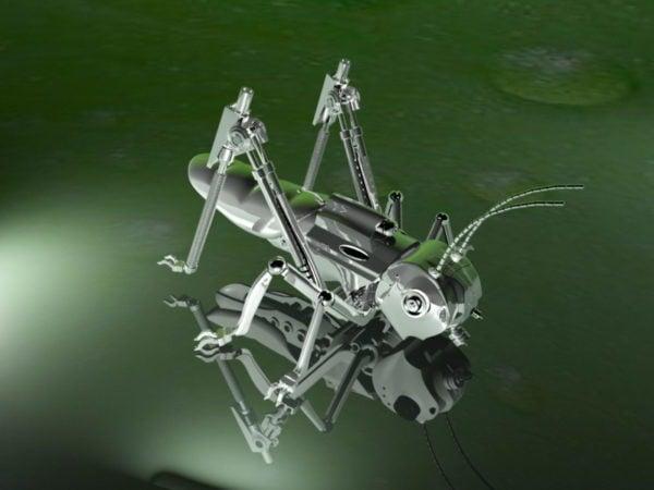 Saltamontes robótico de la langosta