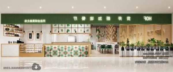 مطعم التصميم الأنيق المشهد الداخلي