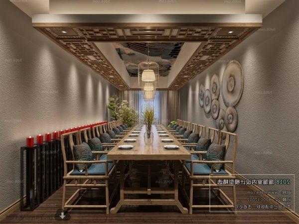 Ravintola Moderni ruokasalin sisustus