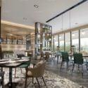 Modern Drink Restaurant Interior Scene