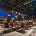 Hotel Top Outdoor Restaurant Interior Scene