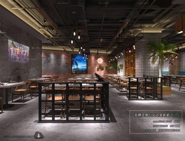 Escena interior del restaurante comedor