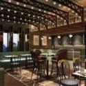 Ahşap Dekorasyon Çin Restoranı İç Sahne