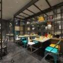 Industrial Style Restaurant Interior Scene Interior Scene
