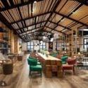 Coffee Book Shop Interior Scene