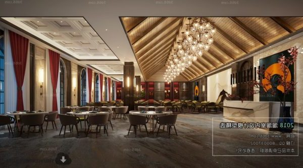 Hotel de lujo Restaurante Decoración Escena interior
