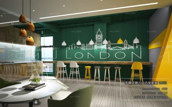 New Style Coffee Shop House Interior Scene