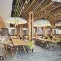 Nordic Style Restaurant Interior Scene