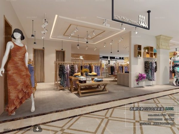 Fashion Shop Interior Scene