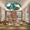 Stuffed Toys Children Shop Interior Scene