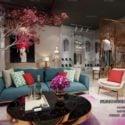 Fashion Showcase Decor Interior Scene