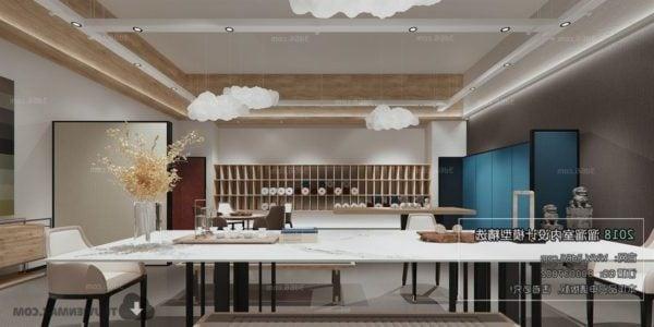 Luxury-huvilan ruokasalin sisustus