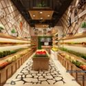 Fruit Vegetable Restaurant Interior Scene
