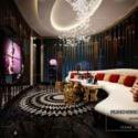 Luxury Karaoke Room Interior Scene