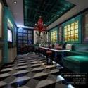 Retro Coffee Restaurant Interior Scene
