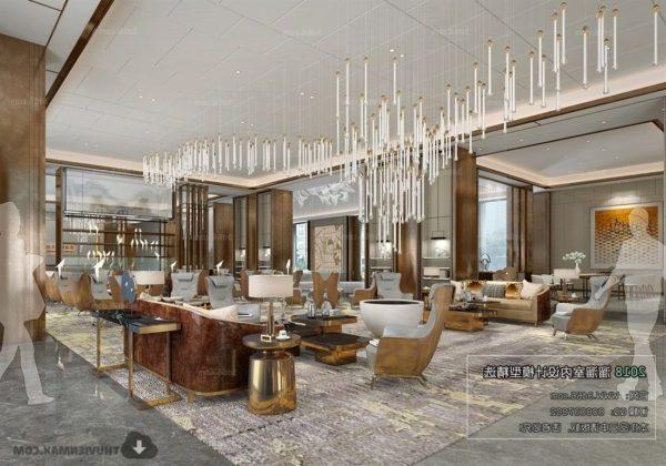 Escena interior del restaurante del hotel europeo de lujo