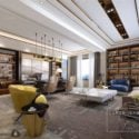 Manager Workspace With Living Room Interior Scene